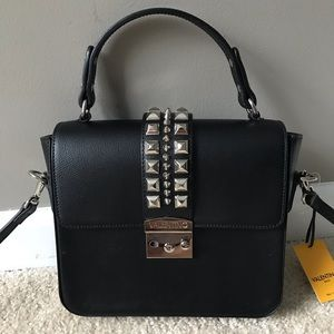 Mario Valentino Layla Studded Top-Handle Bag